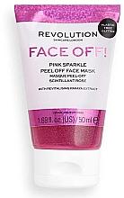 Parfüm, Parfüméria, kozmetikum Peeling-maszk - Revolution Skincare Face Off! Pink Glitter Face Off Mask