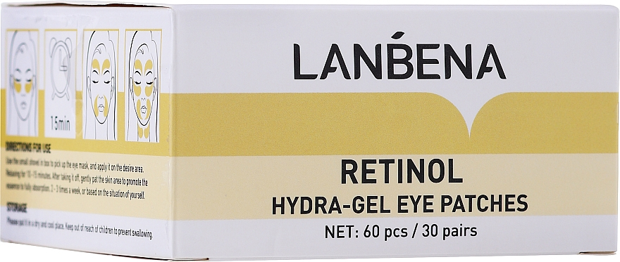 Fiatalító hidrogél szemtapasz retinollal és kollagénnel - Lanbena Retinol Collagen Hydra-Gel Eye Patch