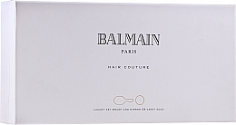 Parfüm, Parfüméria, kozmetikum Szett - Balmain Paris Hair Couture Gold Brush Set Mini (h/silk/50ml + brush + mirror)