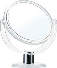 Parfüm, Parfüméria, kozmetikum Kétoldalas tükör, 9275, 12cm, fehér - Donegal Mirror