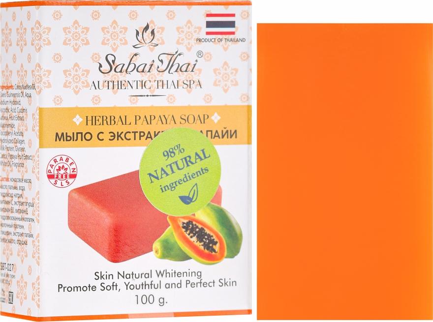 Szappan papaya kivonattal - Sabai Thai Herbal Papaya Soap