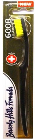 Puha fogkefe, fekete-sárga - Beverly Hills Formula 6008 Filament Multi-Colour Toothbrush