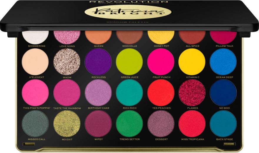 Szemhéjfesték paletta - Makeup Revolution X Patricia Bright Eyeshadow Palette
