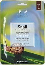 Parfüm, Parfüméria, kozmetikum 3D szövetmaszk - Beauugreen Contour 3D Snail Essence Mask