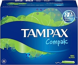 Parfüm, Parfüméria, kozmetikum Tampon applikátorral, 22 db - Tampax Compak Super
