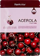Parfüm, Parfüméria, kozmetikum Szövetmaszk acerolla kivonattal - Farmstay Visible Difference Mask Sheet