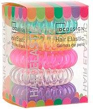 Parfüm, Parfüméria, kozmetikum Hajgumi szett, színes, szilikon, 5 db - IDC Institute Design Hair Bands Pack
