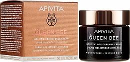 Parfüm, Parfüméria, kozmetikum Gazdag textúrájú komplex öregedésgátló krém - Apivita Queen Bee Holistic Age Defence Cream Rich Texture