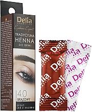 Parfüm, Parfüméria, kozmetikum Henna szemöldök por, barna - Delia Brow Dye Henna Traditional Brown