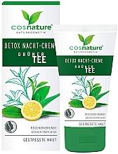 "Parfüm, Parfüméria, kozmetikum Éjszakai arckrém ""Detox"" - Cosnature Night Cream Detox Green Tea"
