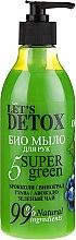 """Parfüm, Parfüméria, kozmetikum Bio szappan """"Hidratáló"""" - Let's Detox 5 Super Green Soap"""
