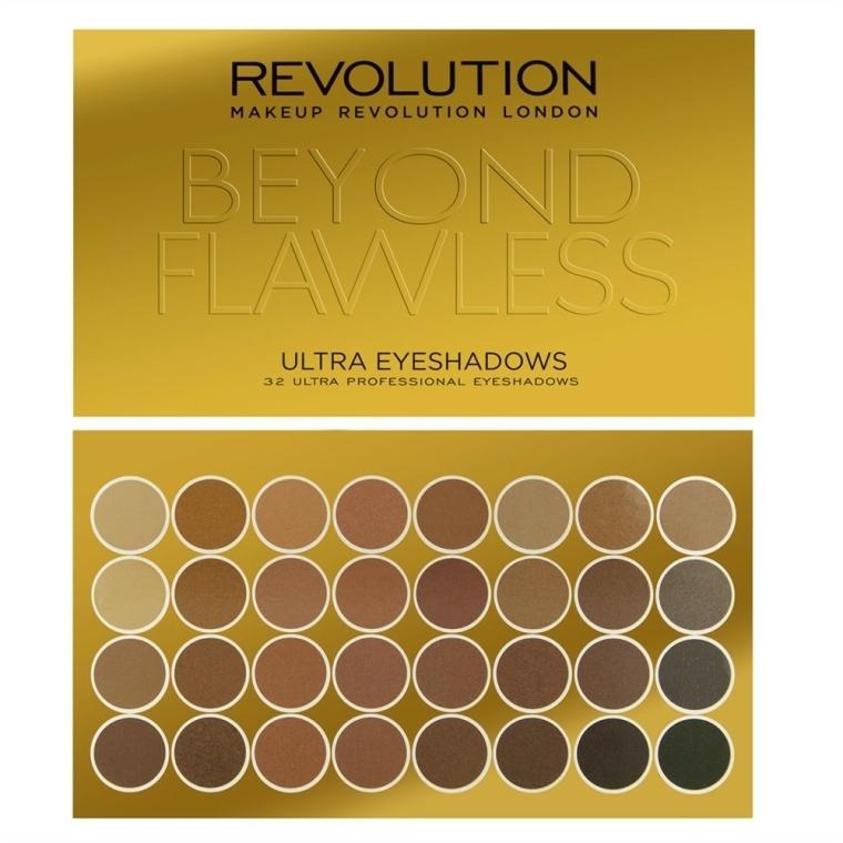 Szemhéjfesték paletta, 32 árnyalat - Makeup Revolution Ultra 32 Shade Palette Beyond Flawless