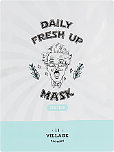Parfüm, Parfüméria, kozmetikum Szövetmaszk teafa kivonattal - Village 11 Factory Daily Fresh Up Mask Tea Tree