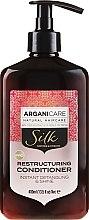 Parfüm, Parfüméria, kozmetikum Helyreállító kondicionáló selyemfehérjékkel - Arganicare Silk Restructuring Conditioner