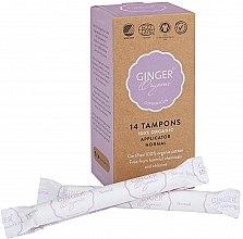 "Parfüm, Parfüméria, kozmetikum Tampon applikátorral ""Normál"", 14 db - Ginger Organic"