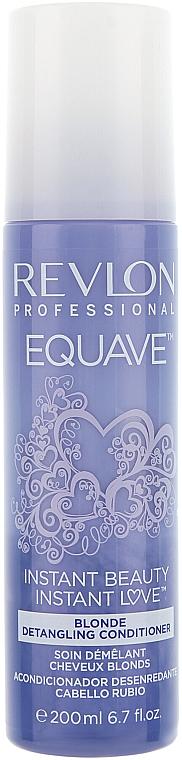 Keratinos kondicionáló szőkített hajra - Revlon Professional Equave 2 Phase Blonde Detangling Conditioner — fotó N3