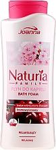 Parfüm, Parfüméria, kozmetikum Fürdőhab - Joanna Naturia Family Bath Foam Cherry Blossom