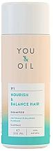 """Parfüm, Parfüméria, kozmetikum Sampon """"Táplálás és egyensúly"""" - You&Oil Nourish & Balance Hair Shampoo"""