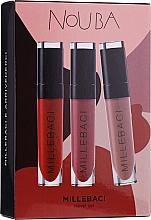 Parfüm, Parfüméria, kozmetikum Szett - NoUBA Millebaci Travel Set №3 (lipstick/3x6ml)