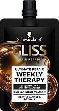Parfüm, Parfüméria, kozmetikum Beaty kúra sérült hajra - Schwarzkopf Gliss Kur Ultimate Repair Weekly Therapy