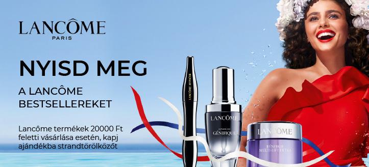 Kapj ajándékba strandtörölközőt,  Lancôme termékek 20000 Ft feletti vásárlása esetén