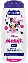 Parfüm, Parfüméria, kozmetikum Sampon gél és fürdőhab 3 az 1-ben puding illattal - On Line Kids Disney Minnie