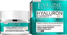 Parfüm, Parfüméria, kozmetikum Ráncfeltöltő nappali-éjszakai krém-koncentrátum SPF8 - Eveline Cosmetics Hyaluron Expert 60+