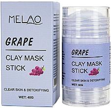 """Parfüm, Parfüméria, kozmetikum Maszk stift arcra """"Grape""""  - Melao Grape Clay Mask Stick"""