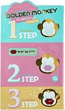 Parfüm, Parfüméria, kozmetikum Szett ajakápoló termékek - Holika Holika Golden Monkey Glamour Lip 3-Step Kit