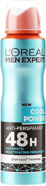 Izzadásgátló dezodor férfiaknak - L'Oreal Paris Men Expert Cool Power Deodorant Spray