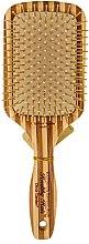 Parfüm, Parfüméria, kozmetikum Bambusz hajkefe, téglalap alakú - Olivia Garden Healthy Hair Rectangular Epoxy Eco-Friendly Bamboo Brush