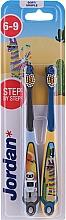 Parfüm, Parfüméria, kozmetikum Gyerek fogkefe, 6-9 év, robot és láma - Jordan Step By Step Soft