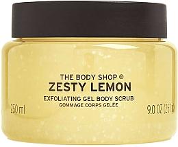 "Parfüm, Parfüméria, kozmetikum Testradír ""Citrom"" - The Body Shop Zesty Lemon Exfoliating Gel Body Scrub"