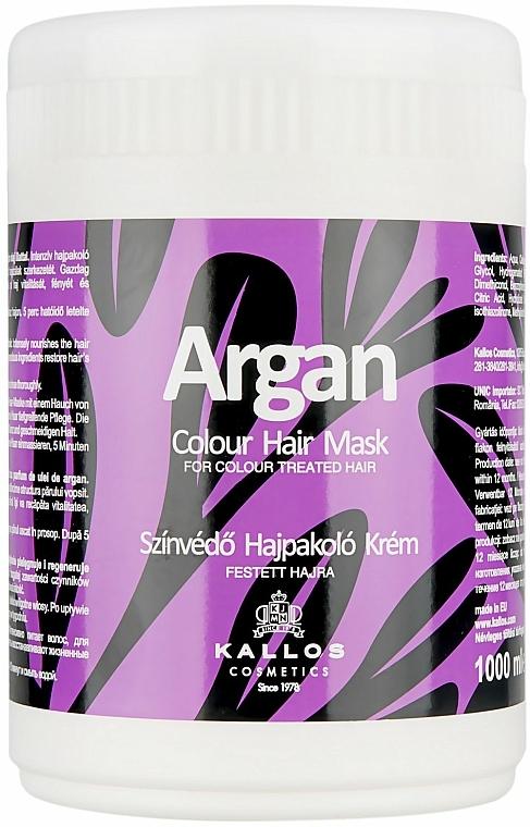 """Maszk festett hajra """"Argán"""" - Kallos Cosmetics Argan Color Hair Mask"""
