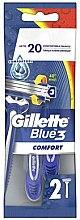 Parfüm, Parfüméria, kozmetikum Eldobható borotva készlet, 2 db - Gillette Blue 3 Comfort