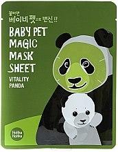 "Parfüm, Parfüméria, kozmetikum Szövetmaszk ""Panda"" - Holika Holika Baby Pet Magic Mask Sheet Vitality Panda"