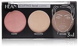 Parfüm, Parfüméria, kozmetikum Arcmodellező paletta 3 színárnyalat - Hean Paletka Sculpting