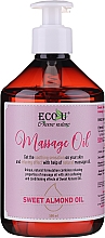 Parfüm, Parfüméria, kozmetikum Masszázsolaj - Eco U Massage Oil Sweet Almond Oil
