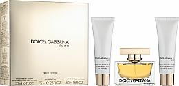 Parfüm, Parfüméria, kozmetikum Dolce & Gabbana The One - Szett (edp/75ml + b/l/50ml + sh/g/50ml)