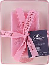 Parfüm, Parfüméria, kozmetikum Természetes szappan kerámia szappantartóval - Le Chatelard Rose Soap