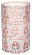 Parfüm, Parfüméria, kozmetikum Gyertyatartó - Yankee Candle Red Nordic Frosted Glass Jar Sleeve