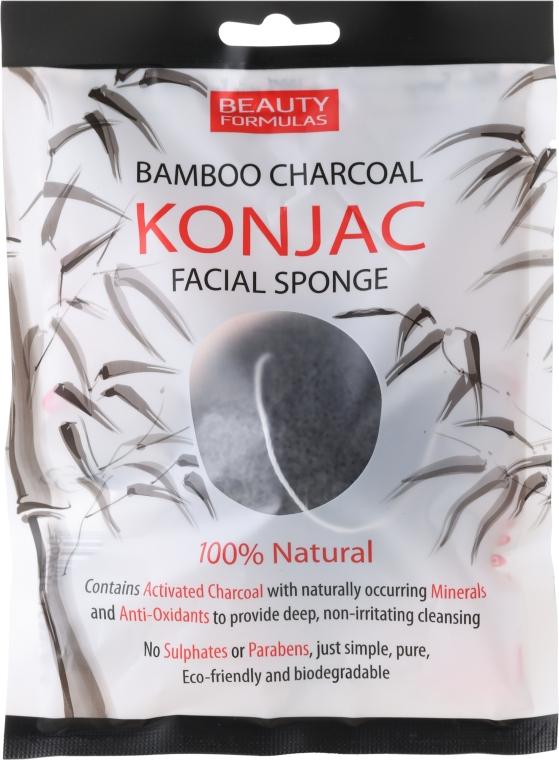 Sminklemosó szivacs - Beauty Formulas Konjac Bamboo Charcoal Facial Sponge