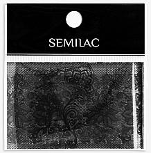 Parfüm, Parfüméria, kozmetikum Körömdísz - Semilac 06 Transfer Nagelfolie Semilac Black Lace
