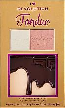 Parfüm, Parfüméria, kozmetikum Highlighter paletta - I Heart Makeup Revolution Highlighter Palette Chocolate Fondue