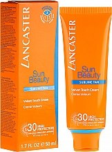 Parfüm, Parfüméria, kozmetikum Napozókrém - Lancaster Sun Beauty Velvet Touch Cream Radiant Tan SPF 30