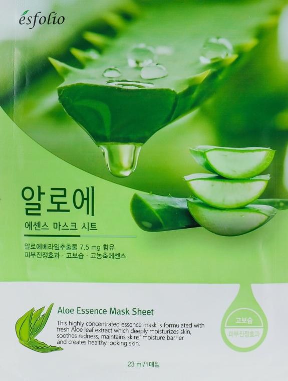 "Szövetmaszk ""Aloe vera kivonat"" - Esfolio Aloe Essence Mask Sheet"