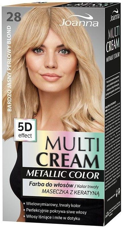 Hajfesték - Joanna Multi Cream Color Metallic — fotó 28