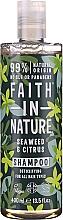 "Parfüm, Parfüméria, kozmetikum Sampon minden hajtípusra ""Hínár és citrusok"" - Faith In Nature Seaweed & Citrus Shampoo"