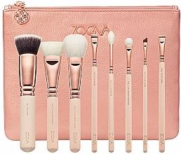 Parfüm, Parfüméria, kozmetikum Sminkecset készlet, 8 db - Zoeva Rose Golden Luxury Set Vol. 2 (8 brushes + clutch)