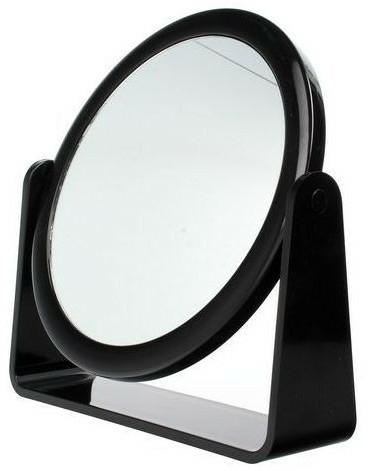 Kétoldalas kozmetikai tükör , 85055, fekete - Top Choice